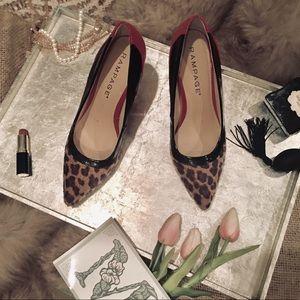 """Rampage"" Red Leopard Print Heels"